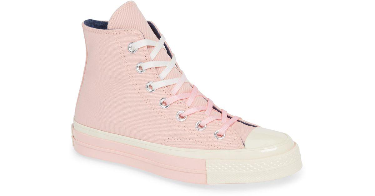 3bb38ae3de8 Lyst - Converse Chuck Taylor(r) All Star(r) 70 Colorblock High Top Sneaker ( women) in Pink