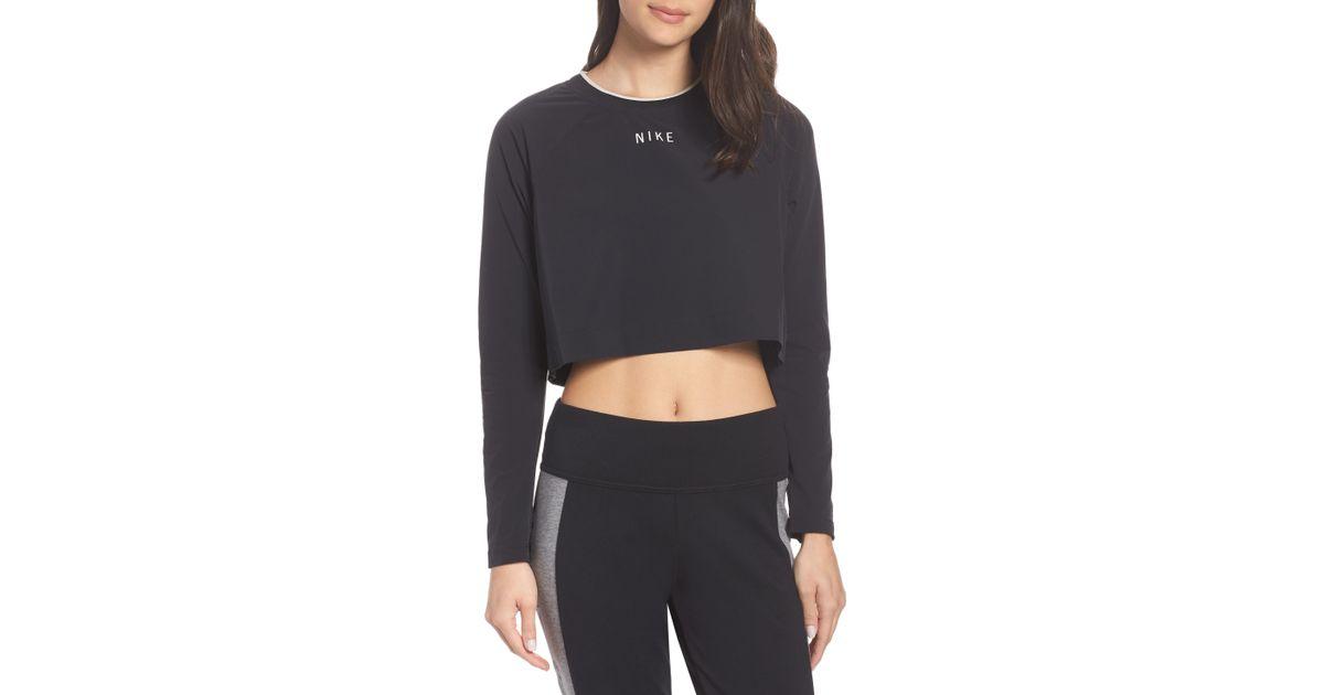 f796c2eedb15e Nike Black Sportswear Tech Pack Women's Long Sleeve Top