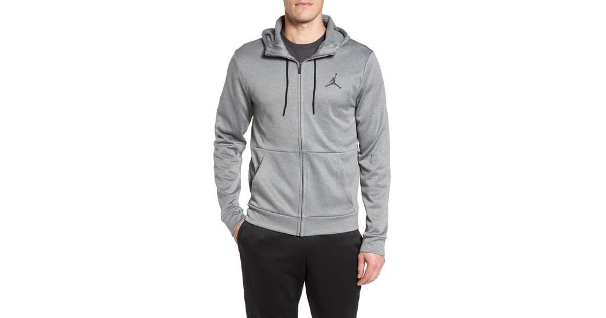 cd2d51d3a85 Nike 23 Alpha Therma Fz Hoodie in Gray for Men - Lyst