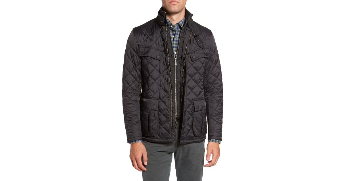 barbour international windshield quilted jacket