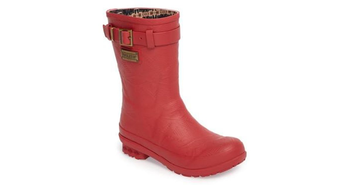 Lyst Pendleton Boot Pendleton Embossed Short Rain Boot