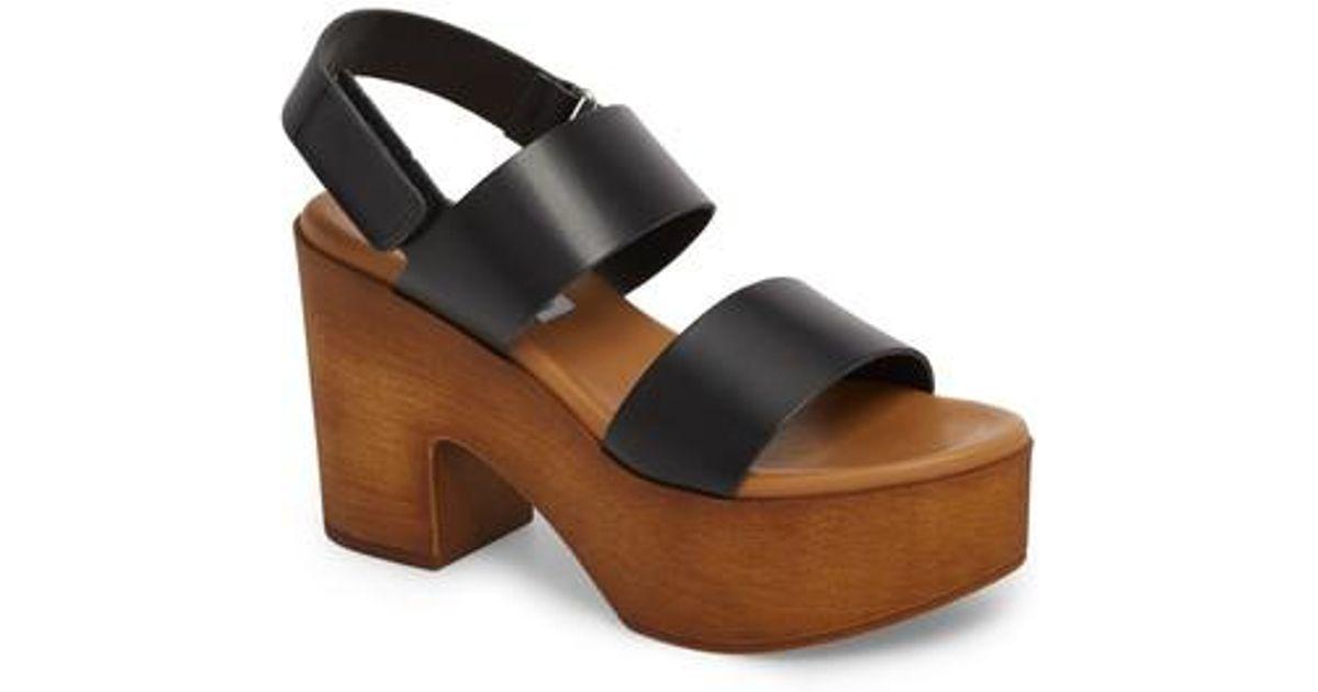 ac85c3bce0f8 Lyst - Steve Madden Marena Slingback Platform Sandal (women) in Black