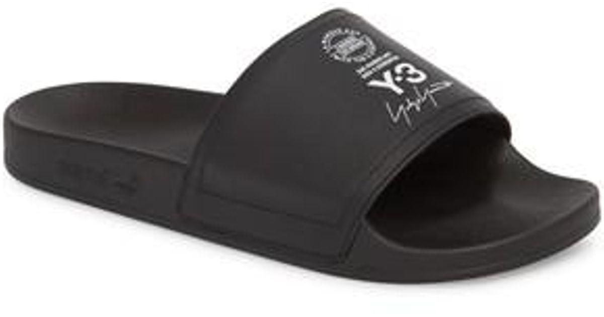 e6c5403a6ea06 Lyst - Y-3 X Adidas Adilette Slide Sandal in Black