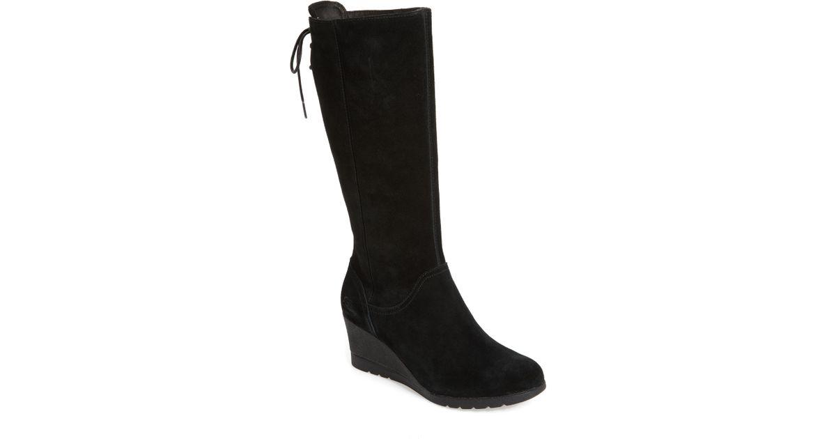 4af113e291f Ugg - Black Ugg Dawna Waterproof Wedge Boot - Lyst