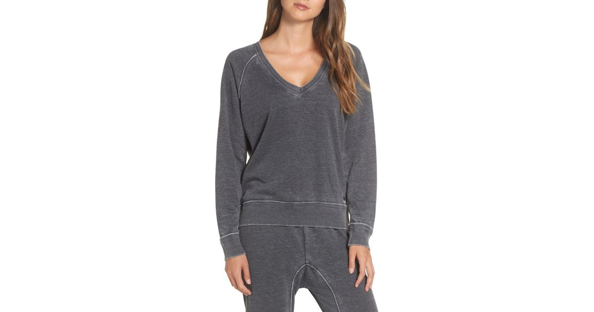 b0f31017a56 Joe's - Gray V-neck Sweatshirt - Lyst