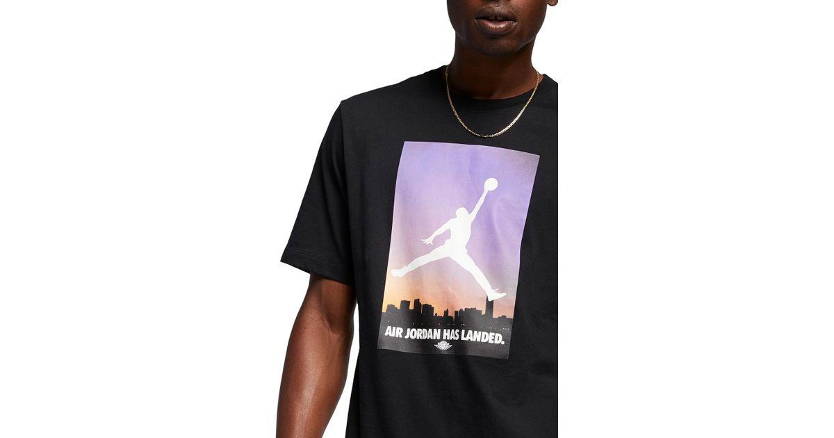 7de34dd10a05 Lyst - Nike Landed Graphic T-shirt in Black for Men