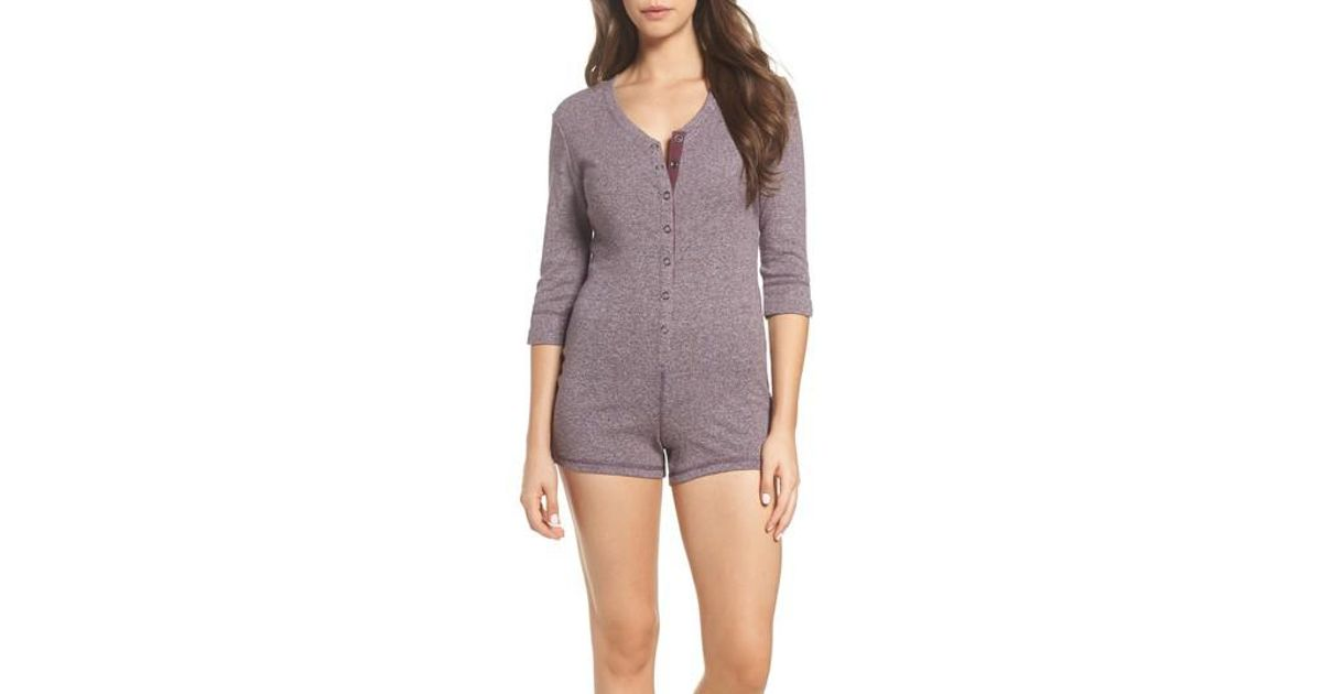 3ca48cd54be6 Lyst - UGG Ugg Heidi Lounge Romper in Purple