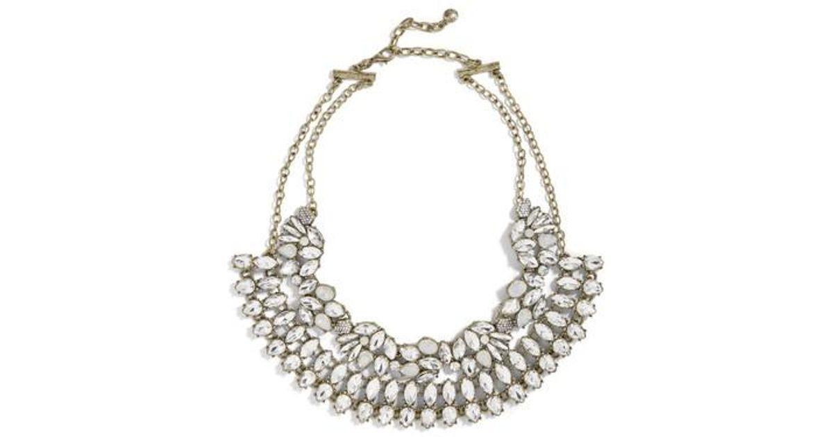 BaubleBar Metallic Evangeline Crystal Statement Necklace