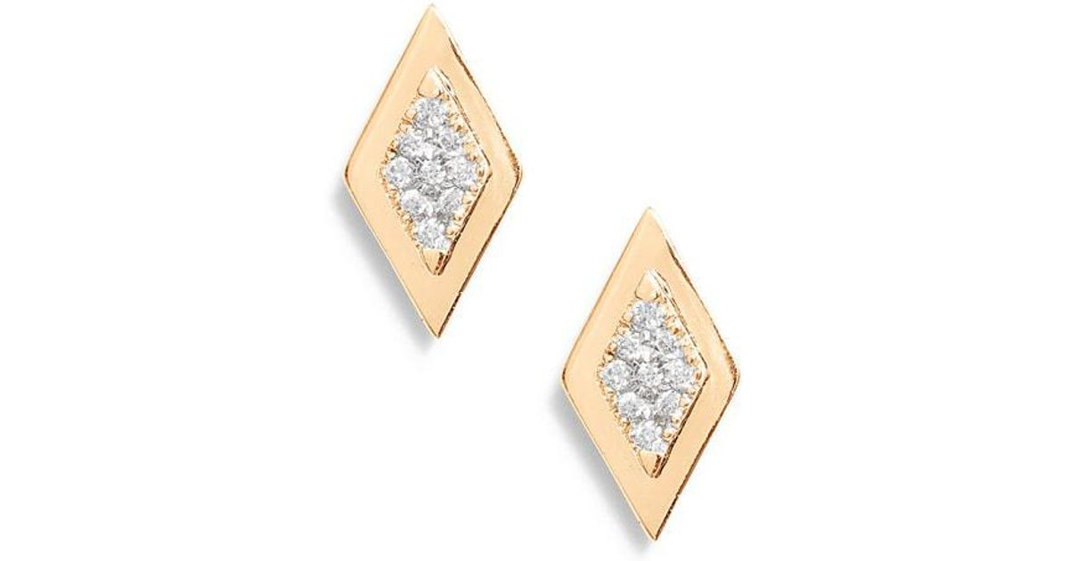 2d88338c3 Dana Rebecca Dana Rebecca Lisa Michelle Multi Diamond Stud Earrings in  Metallic - Lyst