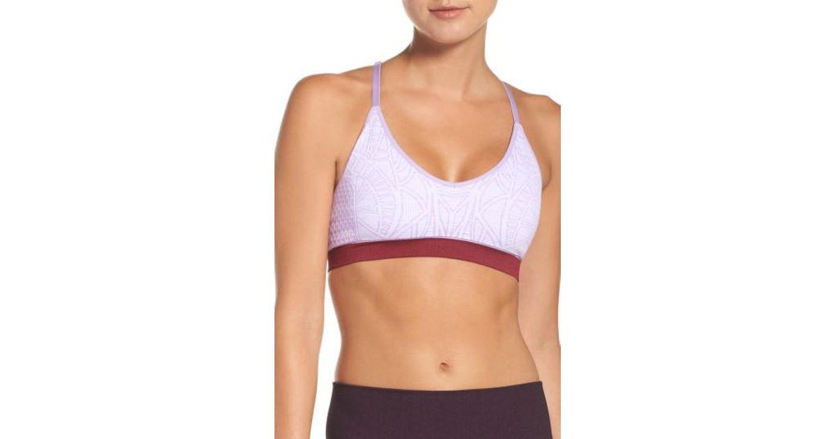 ed86c61661 Lyst - Climawear Liberty Sports Bra in Purple
