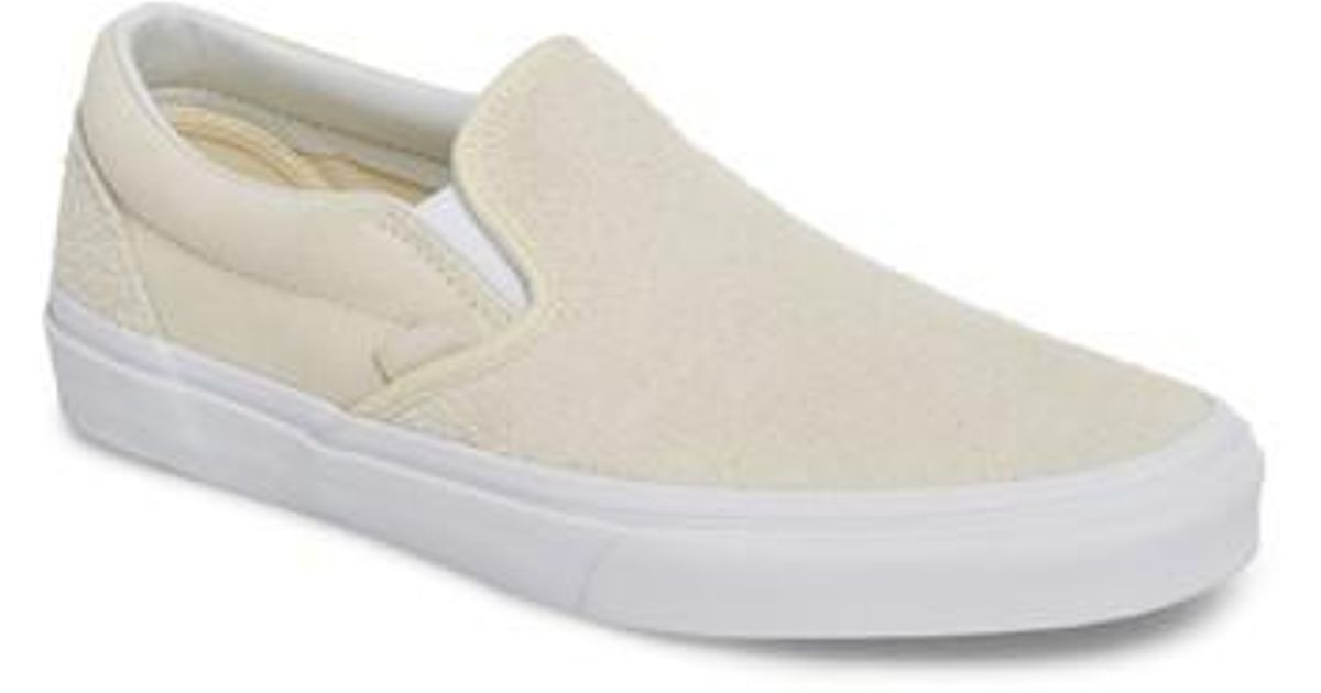 85213752e3b Lyst - Vans Classic Hairy Suede Slip-on Sneaker