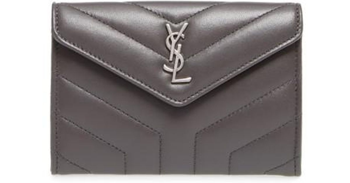 1aaff270f9 Saint Laurent Black Small Loulou Matelasse Leather Wallet