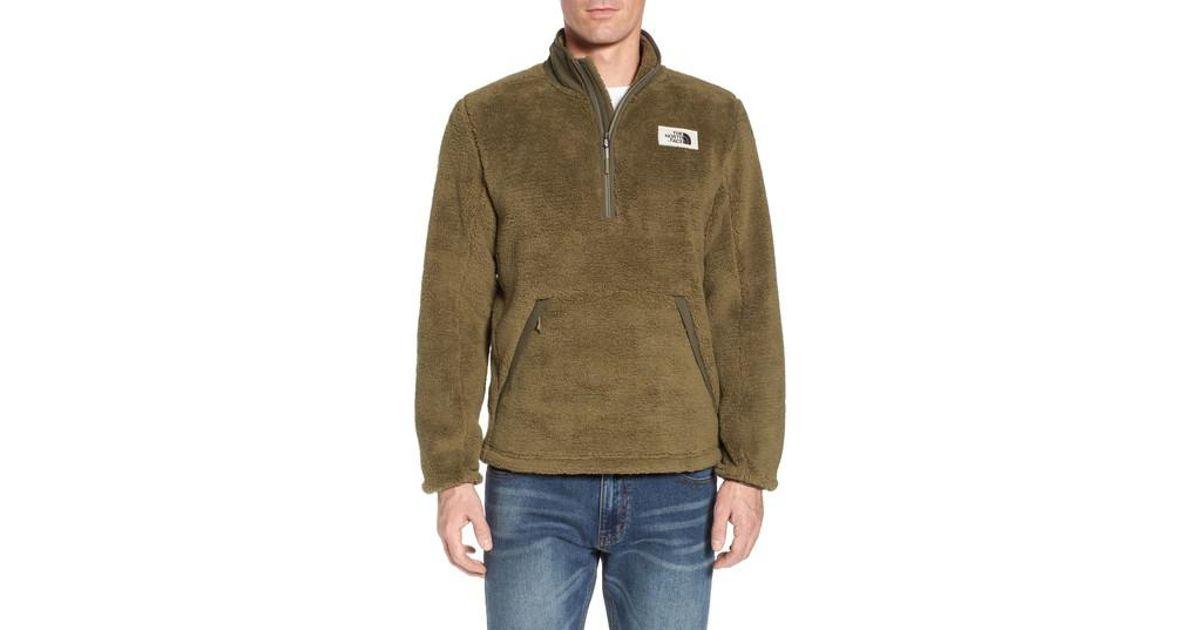 009e27472 The North Face Green Khampfire Fleece Pullover for men
