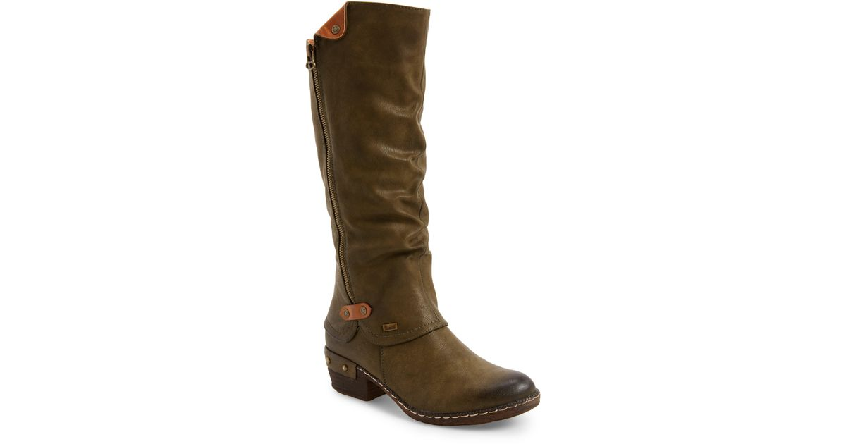 Rieker Antistress Brown 'bernadette 55' Slightly Slouchy All Weather Boot