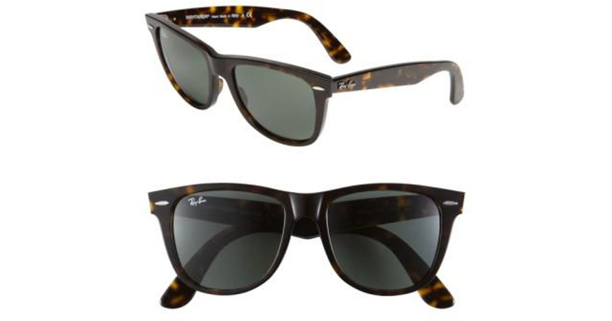 315642a388 ... denmark lyst ray ban large classic wayfarer 54mm sunglasses dark  tortoise in brown 9954c a420e