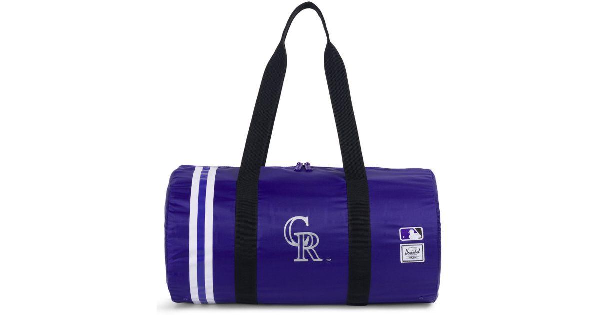 b2bbc8e6c7 Lyst - Herschel Supply Co. Packable - Mlb National League Duffel Bag in  Purple for Men