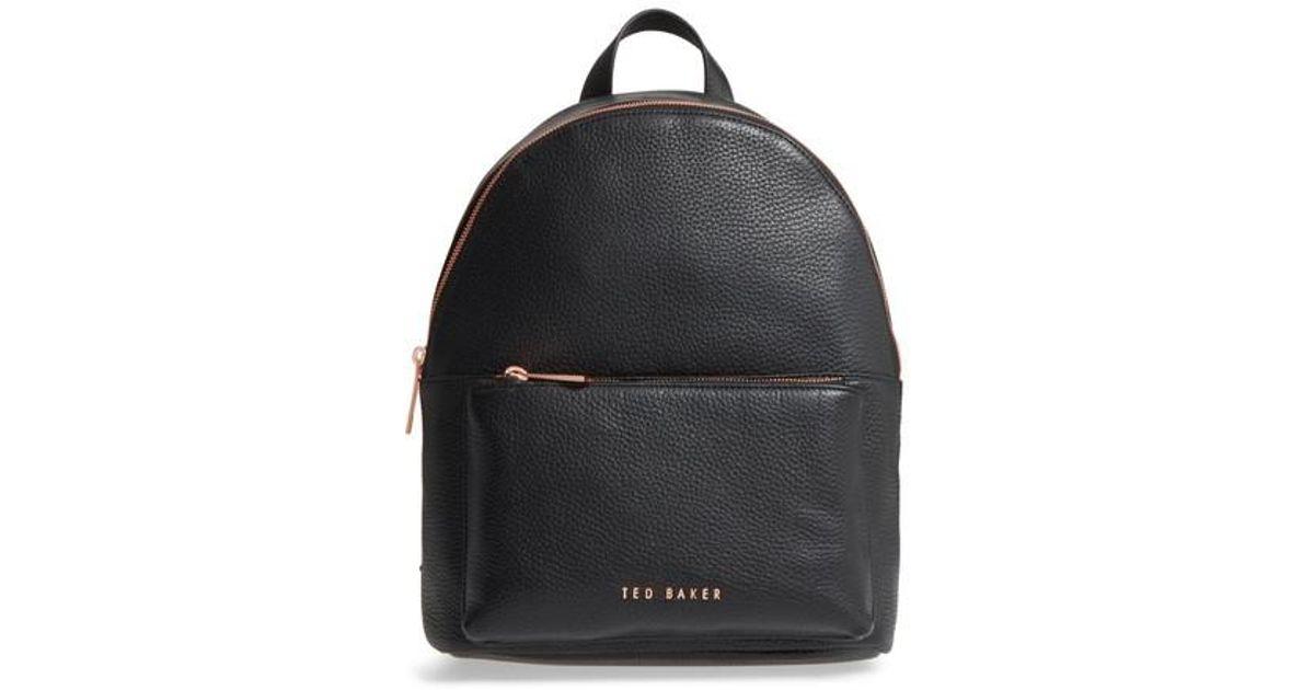 7e9cdea2e Ted Baker Pearen Leather Backpack in Black - Lyst