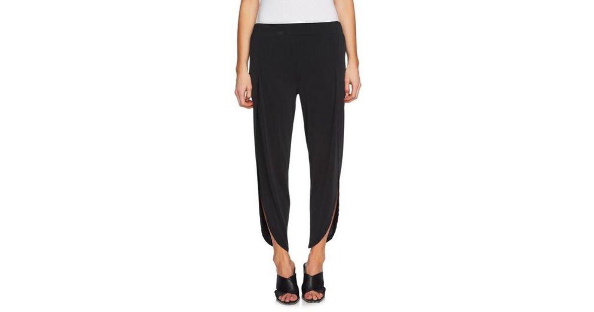 b285b9771c6c Lyst - 1.STATE High Waist Envelope Hem Pants in Black