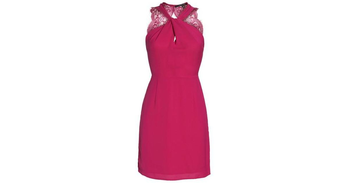 19 Cooper Pink Lace Back Sheath Dress