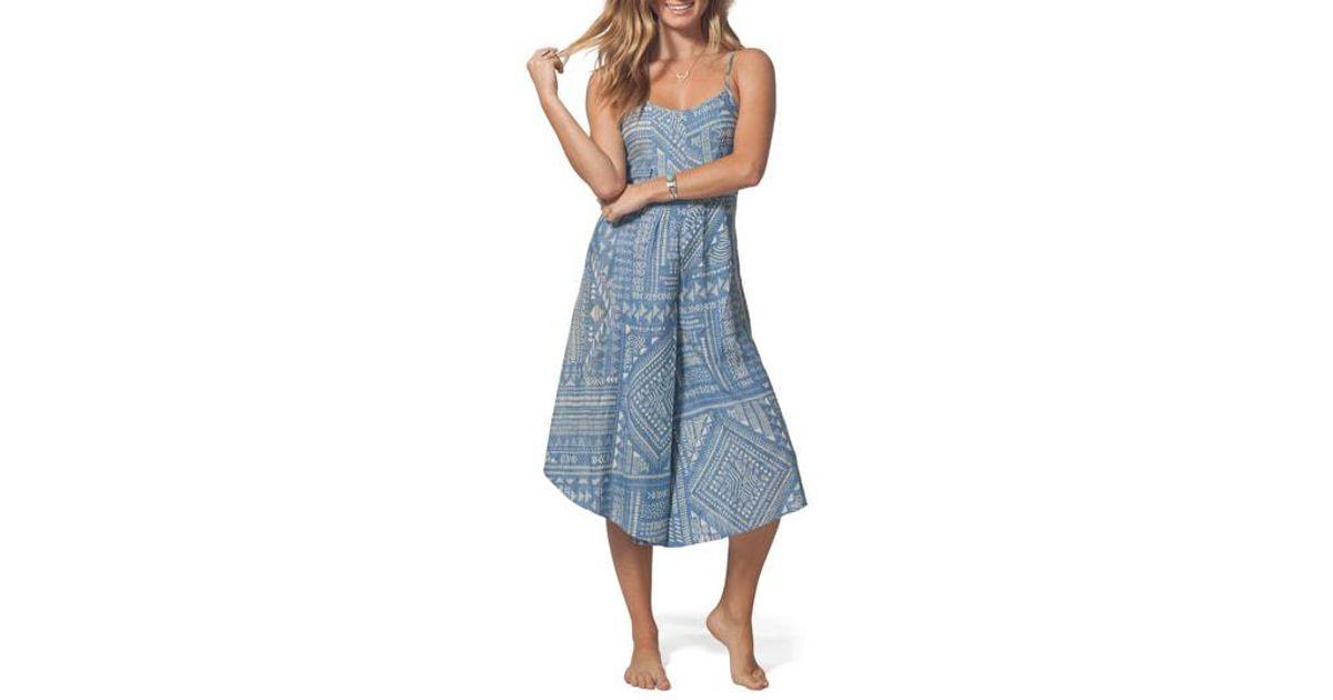 5364d75fabd2 Lyst - Rip Curl Marino Wide Leg Jumpsuit in Blue