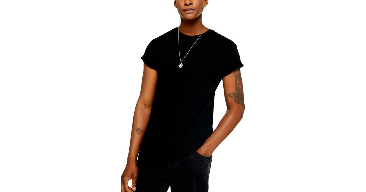 eb2a94632 TOPMAN 2-pack Classic Fit Roller Sleeve T-shirts in Black for Men - Lyst