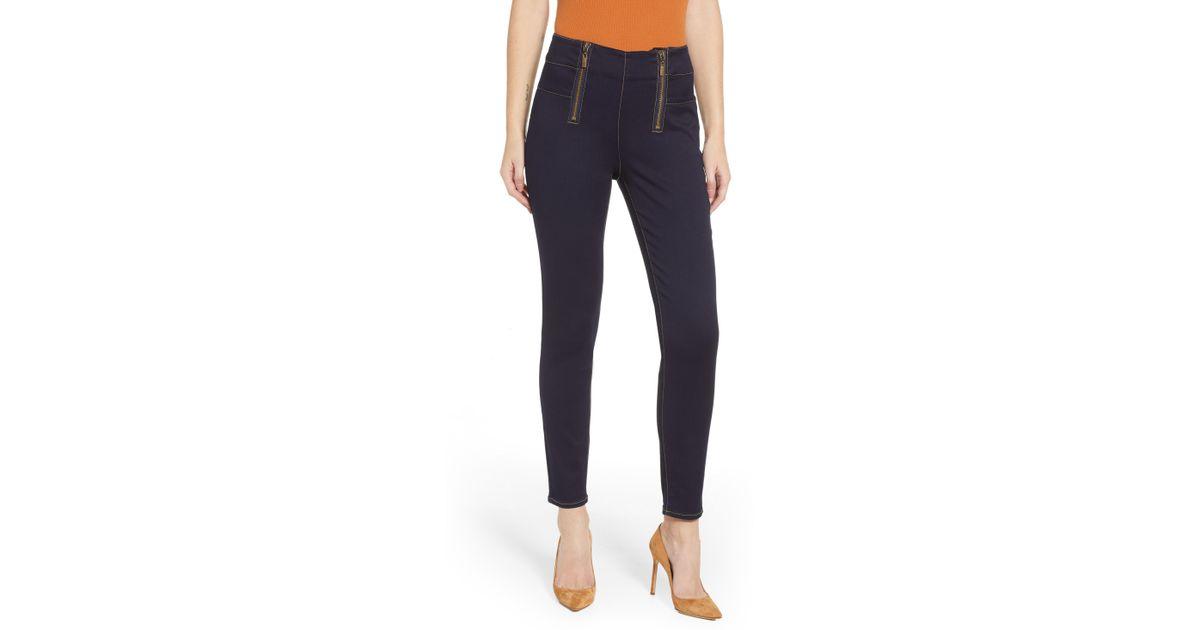 ecf252723d4fe Lyst - Tinsel Double Zip Skinny Jeans in Blue