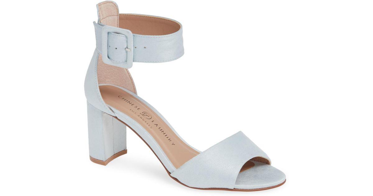 6d3cc6b1ddf Chinese Laundry Blue Rumor Ankle Strap Sandal
