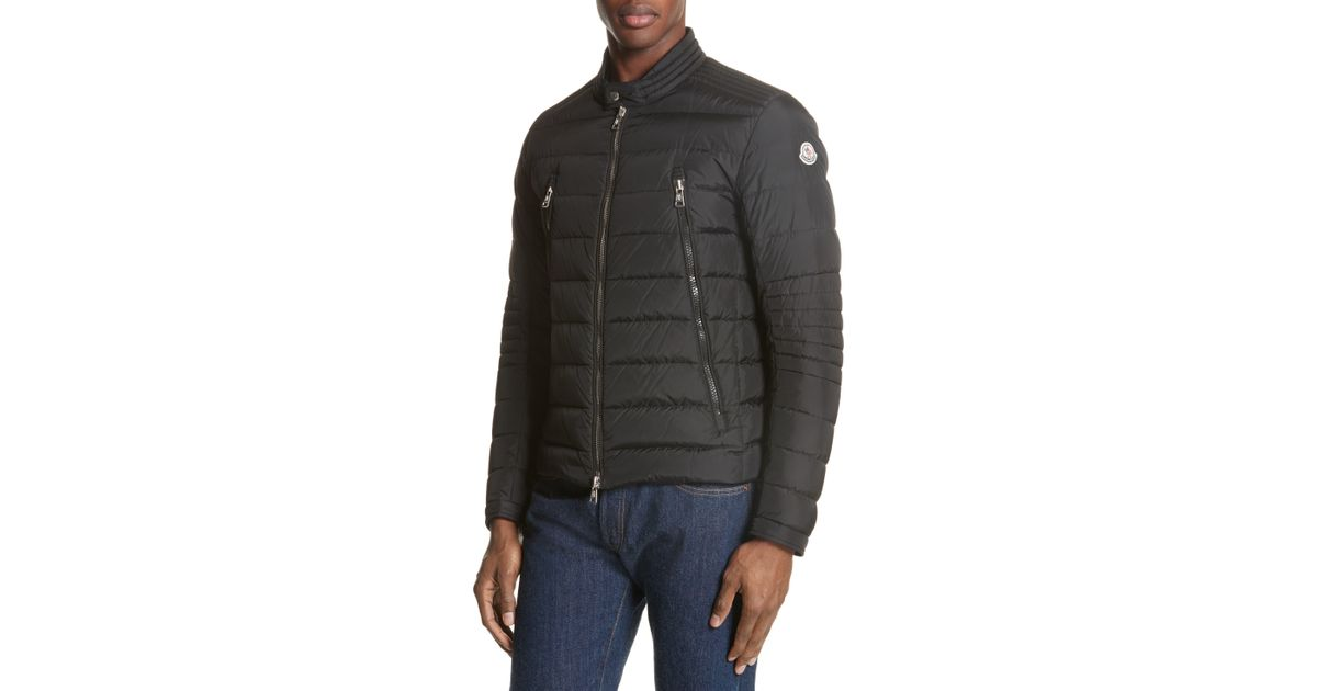 2cdf6357a Moncler Black Amiot Giubbotto Water Resistant Down Jacket for men