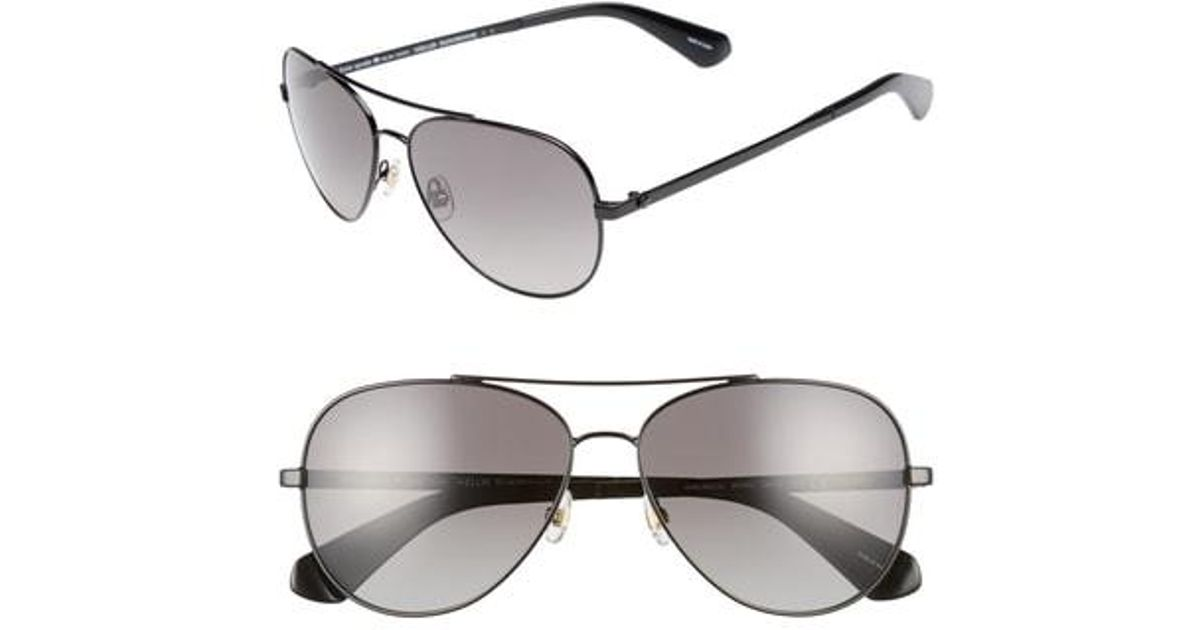 643a39c5dc Lyst - Kate Spade Avaline 2 s 58mm Polarized Aviator Sunglasses - in  Metallic