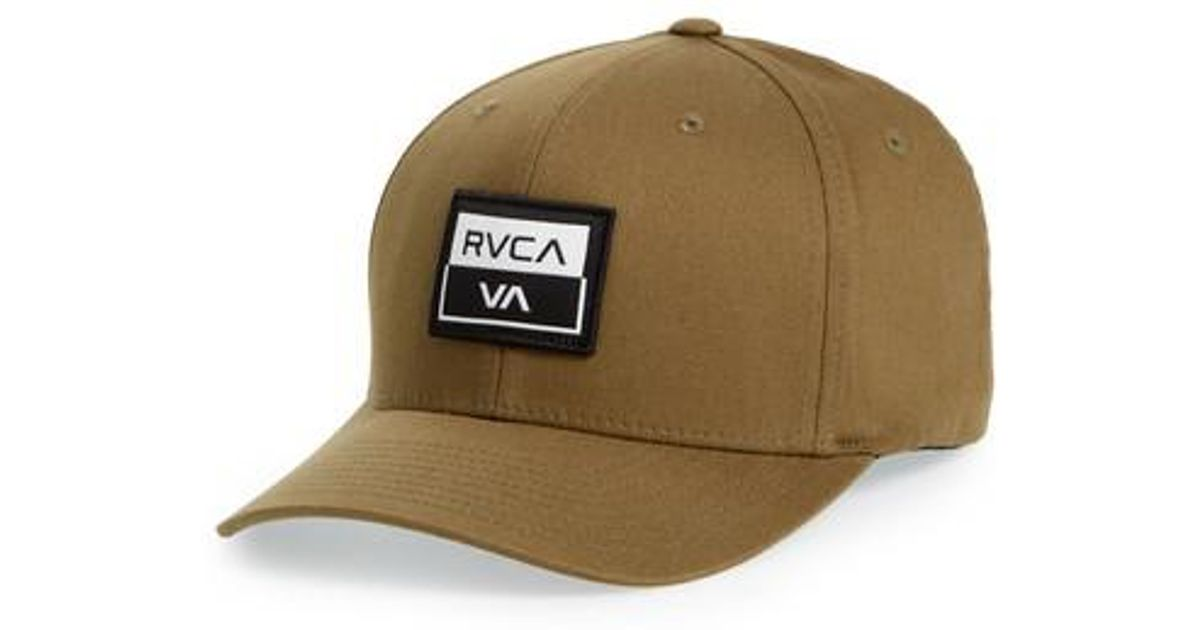 27a7d4fb50e270 RVCA Metro Flexfit Snapback Hat - in Green for Men - Lyst