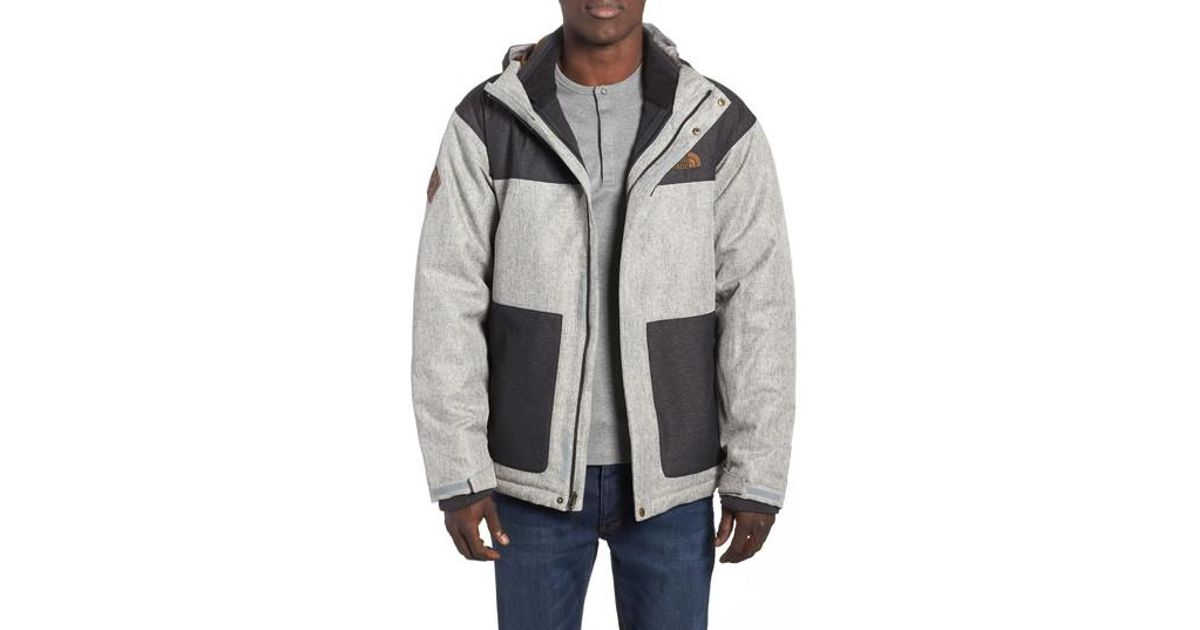 685720360 The North Face Gray Fordyce Triclimate 3-in-1 Waterproof Jacket for men