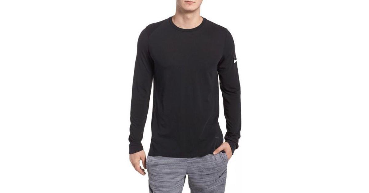 7d361257d97 Lyst - Nike Basketball Elite Long Sleeve T-shirt in Black for Men
