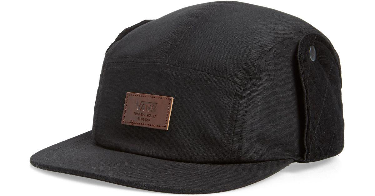 d16693e348a Lyst - Vans Snap Flap Camper Hat in Black for Men