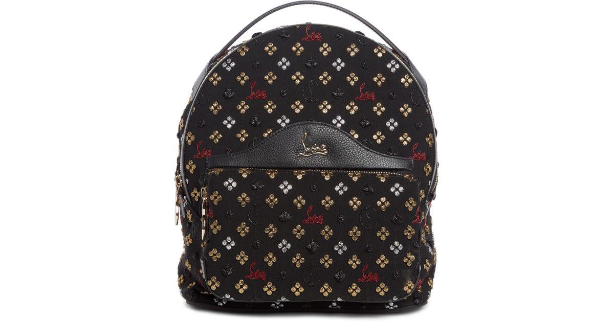 b587545a5ad Christian Louboutin Small Backloubi Metallic Jacquard Backpack -