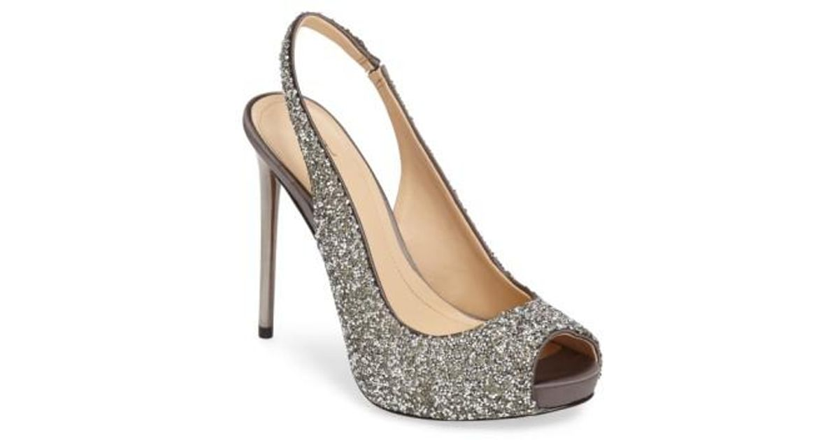Cheap Shop Imagine by Vince Camuto Pavi Slingback Pump(Women's) -Crystal/Silver Shimmer Satin Low Shipping Fee Cheap Online 4QES6cyrnM