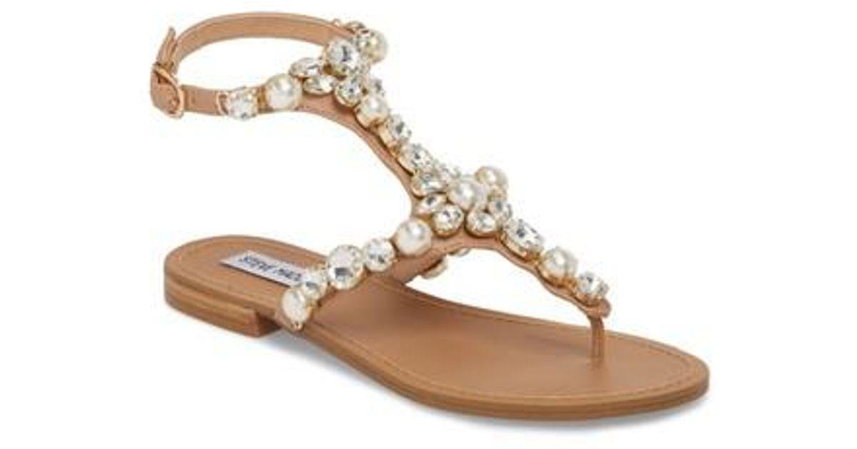 115c769b619 Lyst - Steve Madden Chantel Crystal Embellished Sandal (women) in Metallic