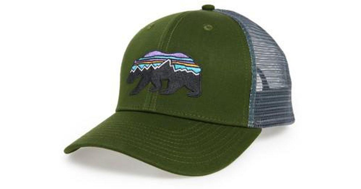fcc484ad9 Patagonia Green Fitz Roy Bear Trucker Cap for men