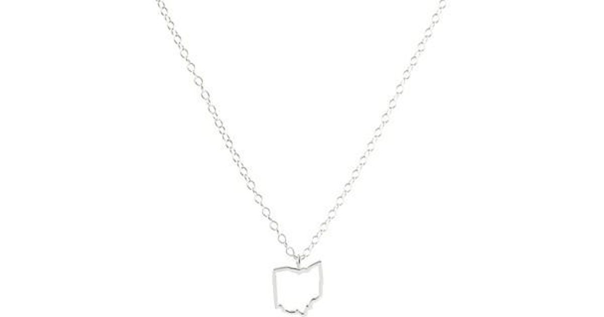 Lyst kris nations state outline charm necklace in metallic aloadofball Images