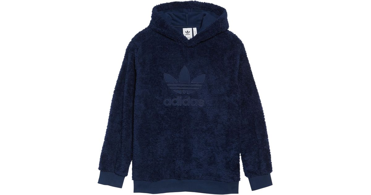 5a650efb3 adidas Originals Adicolor Trefoil Recycled Fleece Hoodie in Blue for Men -  Lyst