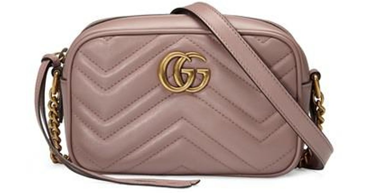 bbcb6d7ceaa Lyst - Gucci Gg Marmont 2.0 Matelassé Leather Shoulder Bag in Pink - Save  24%