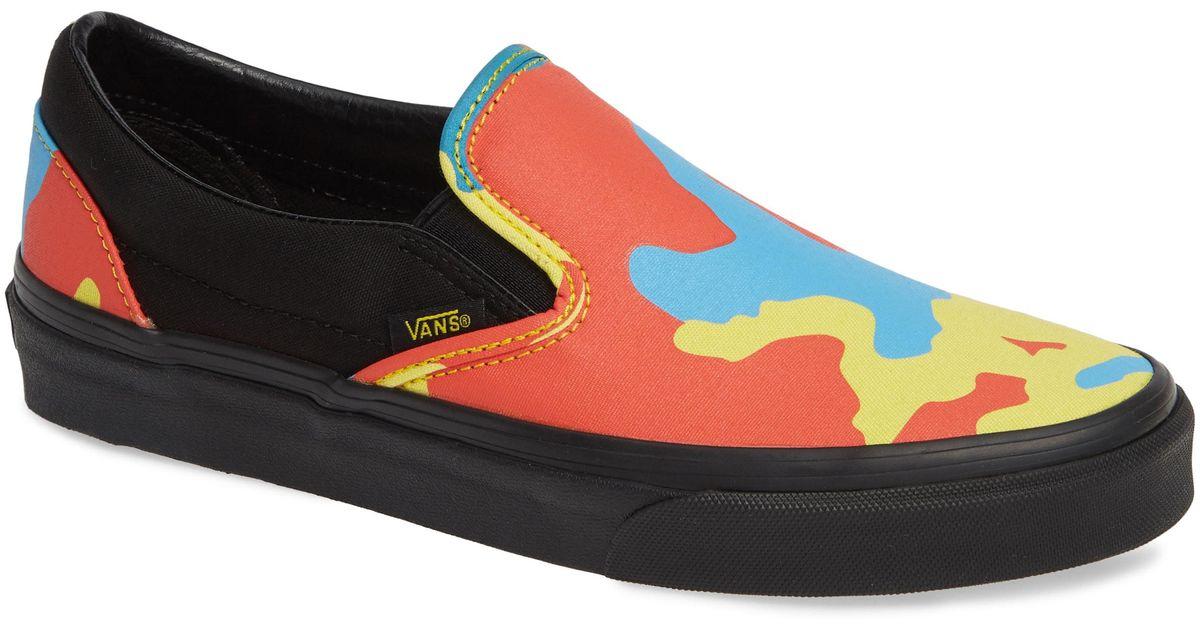 0c811168ae Lyst - Vans Neon Camo Classic Slip-on for Men