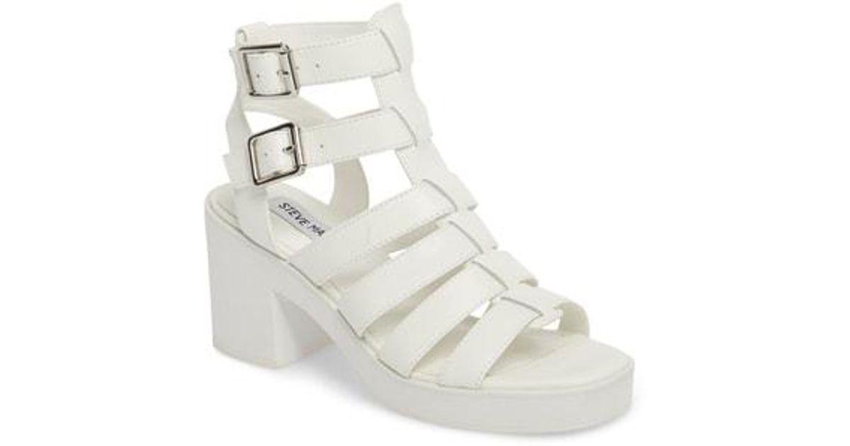 bbe3e772201 Steve Madden White Clue Platform Sandal (women)