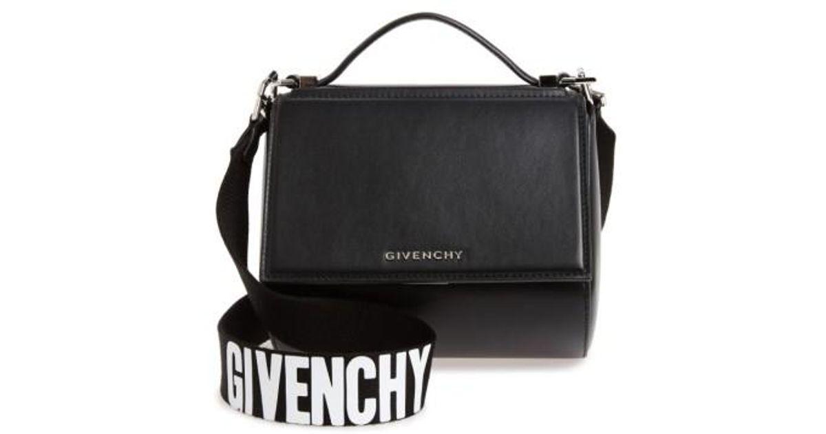 36c810616f1 Lyst - Givenchy Mini Pandora Box Leather Shoulder Bag - in Black