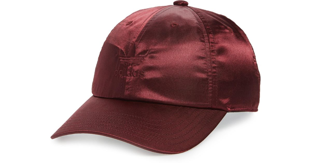 8ee930101c7 Lyst - Adidas Originals Relaxed Strap-back Cap - in Red