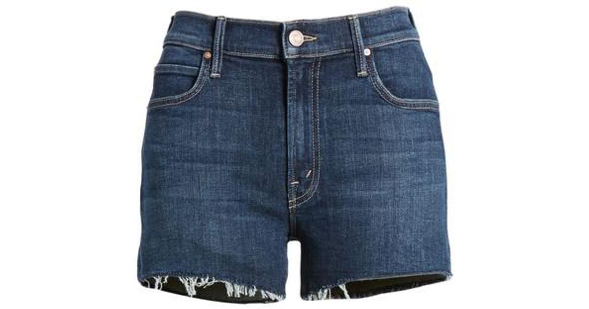 distressed denim shorts - Blue Mother 1EZhzVniug