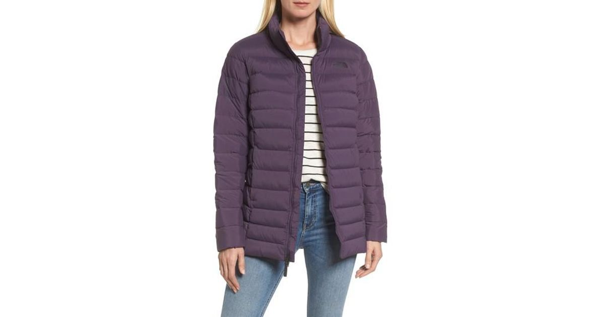 69a88f60d The North Face Purple Stretch Down Quilted Parka
