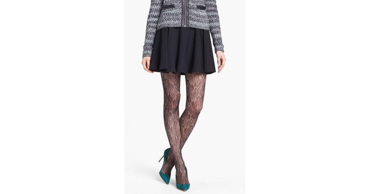 1b1db3815 Lyst - Spanx Spanx  uptown Tight-end Tights - Look At Me Lace  Tights in  Black