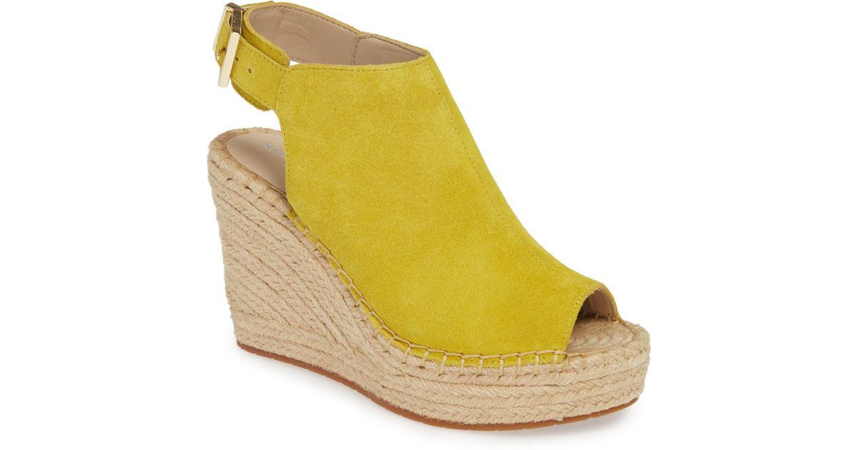 5b1f4a841eb Kenneth Cole Yellow Olivia Espadrille Wedge Sandal Sandal