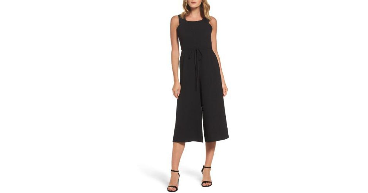 22ab246f4a86 Lyst - Maggy London Crepe Jumpsuit in Black