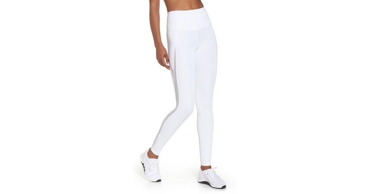 84774f2b22bc7e Zella High Waist V-back Ankle Leggings in White - Lyst